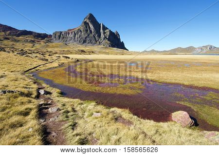 Anayet peak, 2545 m, in the Pyrenees, Pyrenees, Huesca, Aragon, Spain.