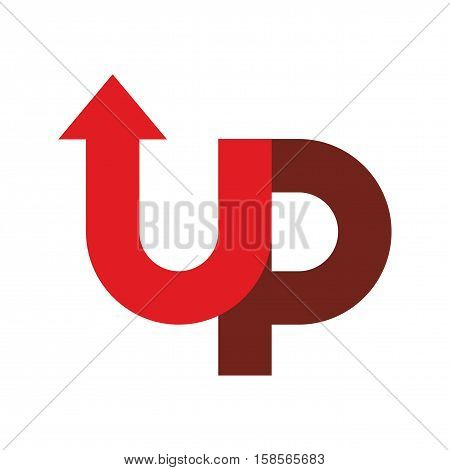 Start Up Logo. Up Arrow Emblem. Starting Business Logotype