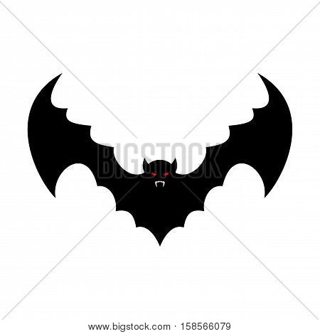 Bat Isolated. Leech With Wings. Flying Vampire