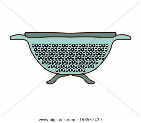 silhouette colorful with kitchen drainer vector illustration