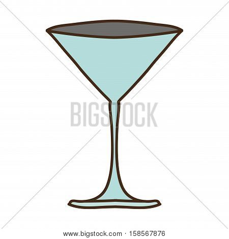 silhouette colorful with martini glass vector illustration