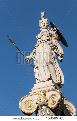 classical Athena statue, athens, greece down town