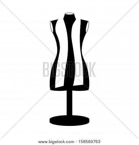 monochrome manikin tailor shop design vector illustration
