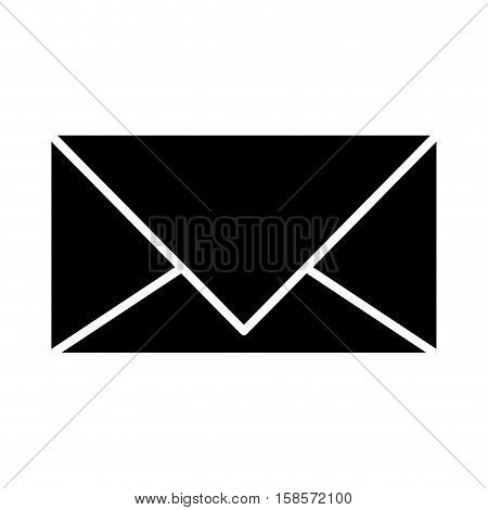 black silhouette envelopes closed icon vector illustration