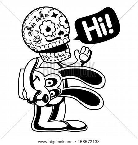 Vector Illustration Of Skeletons