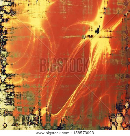Old style design, textured grunge background with different color patterns: yellow (beige); brown; gray; red (orange); black