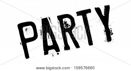 Party Rubber Stamp