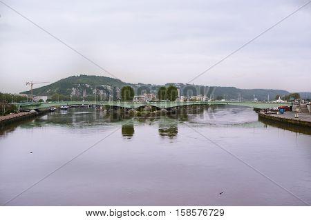 River Seine (cloudy summer day), Rouen, Haute-Normandy---  France