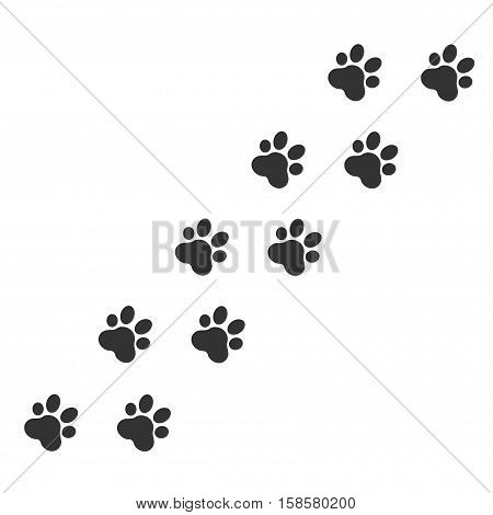 Paw Print. Vector Illustration , Paw Print animal