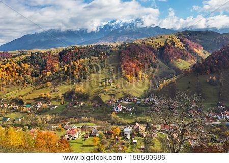 Fundata mountains region in Brasov county Romania