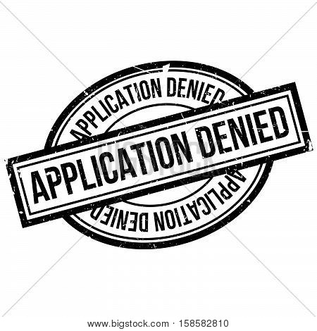 Application Denied Rubber Stamp