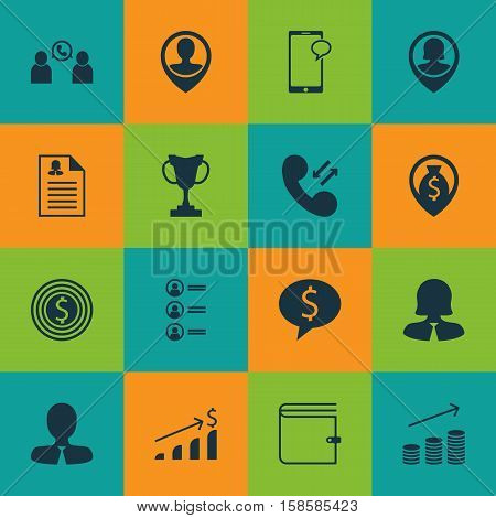 Set Of Human Resources Icons On Female Application, Business Woman And Cellular Data Topics. Editable Vector Illustration. Includes Money, Mobile, Job And More Vector Icons.