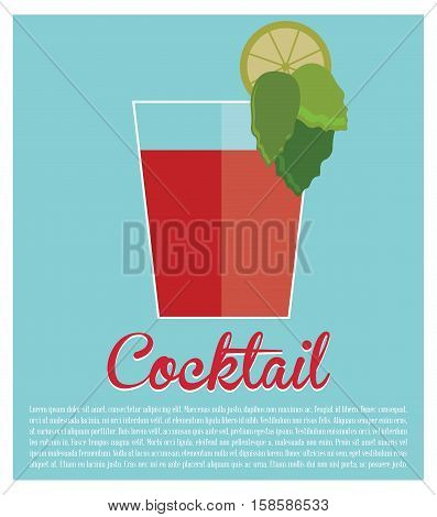 cocktail bloddy mary traditional icon vector illustration eps 10