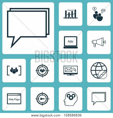 Set Of Advertising Icons On SEO Brainstorm, Questionnaire And Brain Process Topics. Editable Vector Illustration. Includes Brain, Browser, Bulding And More Vector Icons.
