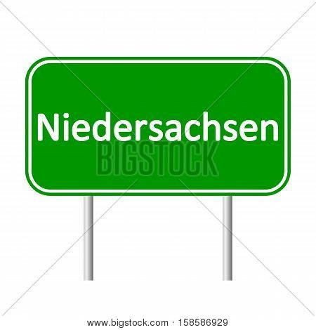 Niedersachsen road sign isolated on white background.