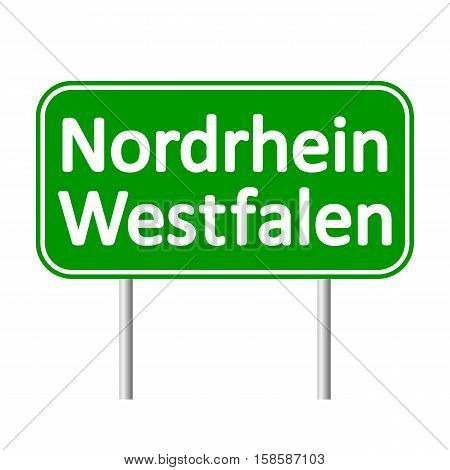 Nordrhein-Westfalen road sign isolated on white background.