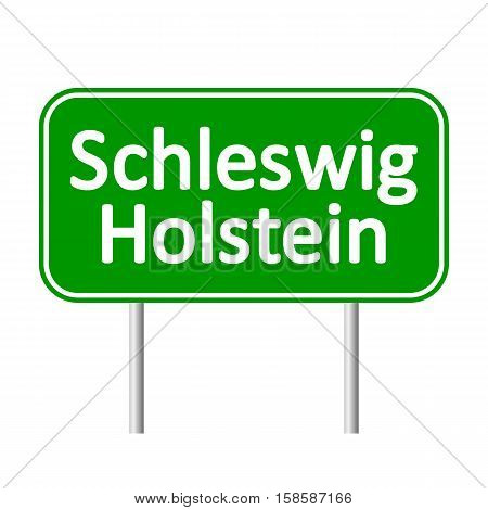 Schleswig-Holstein road sign isolated on white background.