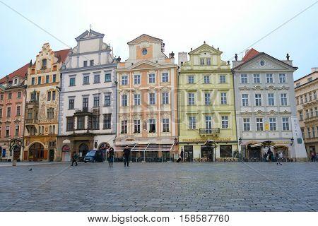 Prague, Czechia - November, 21, 2016: Old Town Square in Prague, Czechia