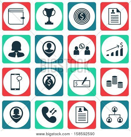 Set Of Management Icons On Money Navigation, Pin Employee And Successful Investment Topics. Editable Vector Illustration. Includes Female, Bank, Stacked And More Vector Icons.