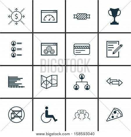 Set Of 16 Universal Editable Icons. Can Be Used For Web, Mobile And App Design. Includes Icons Such As Forbidden Mobile, Crossroad, Loading Speed And More.
