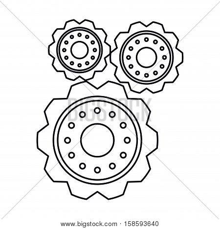 pictogram three gear wheel engine cog icon vector illustration eps 10