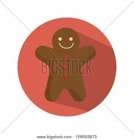 ginger bread christmas card vector illustration design