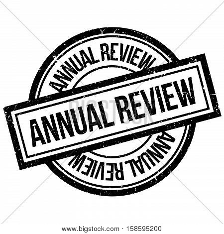 Annual Review Rubber Stamp