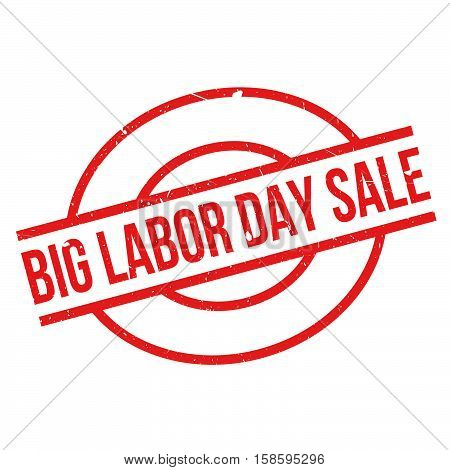 Big Labor Day Sale Rubber Stamp