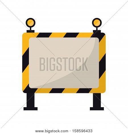 barricade safety maintenance work vector illustration eps 10