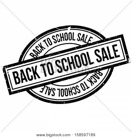 Back To School Sale Rubber Stamp