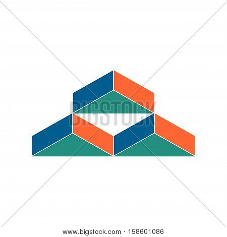 Warehouse Logo. Abstract Barn Hangar. Geometric Emblem. Sign For Construction Company