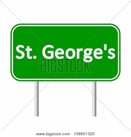St. George's road sign isolated on white background.