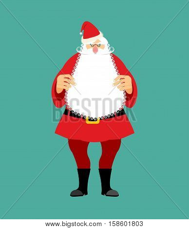 Santa Claus Isolated. Granddad In Red Suit And White Beard. Christmas And New Year Character