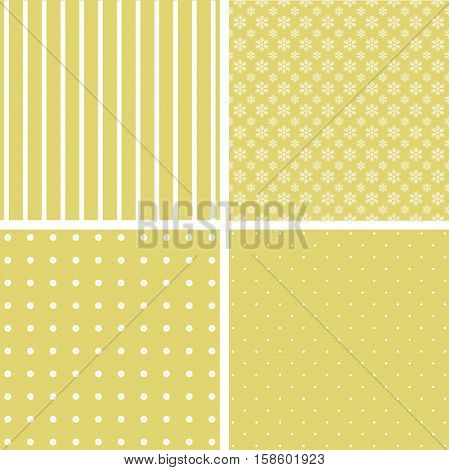 set of 4 background patterns. Vector image