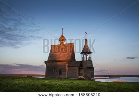 Arkhangelsk oblast a village Vershinino St. Nicholas chapel. Kenozero national Park