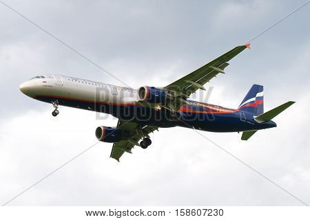 SAINT PETERSBURG, RUSSIA - JULY 03 2016: Airbus A321