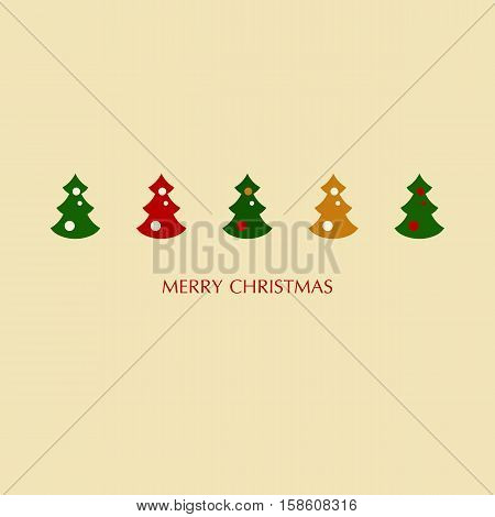 Stock vector illustration of christmas trees set