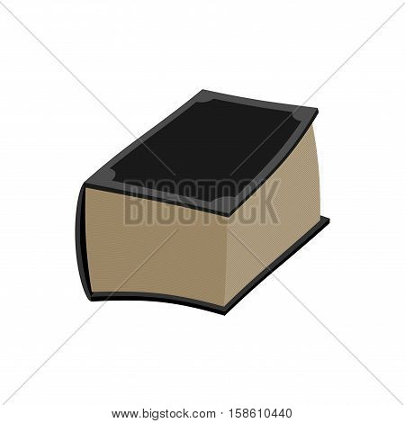 Old Book Isolated. Thick Ancient Volume On White Background