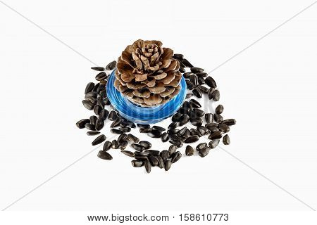 bump and seeds isolated on white background