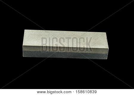 Reversible Water Whetstone Isolated On black Background