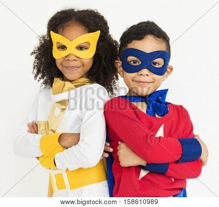 Superhero Kid Bold Brave Female Idol