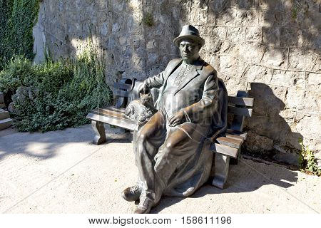 PARTENIT, CRIMEA - SEPTEMBER 7, 2016: Photo of The sculpture