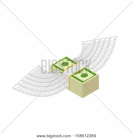 Flying Money. Cash With Wings. Financial Income And Coming. Bank Bird. Dollar Return