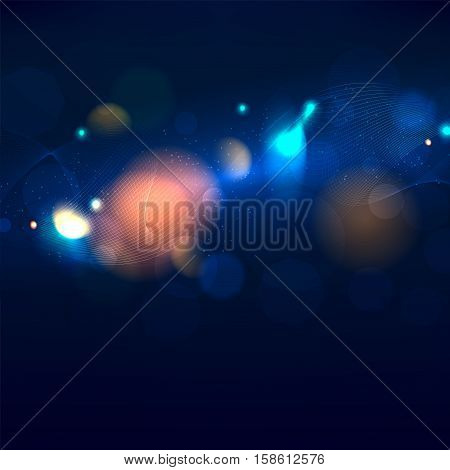 Abstract background with shiny lights and place for your text