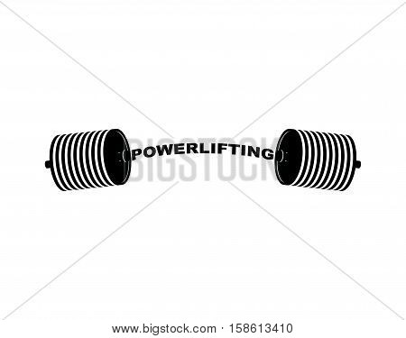 Powerlifting Barbell. Sports Accessory. Lifting Weights. Fitness Equipment