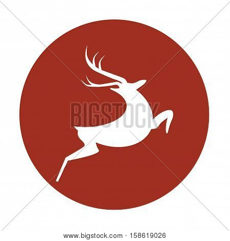 Stylised Vector illustration isolated on red background