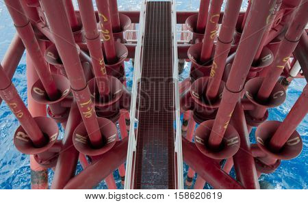 Offshore Industry oil and gas production petroleum pipeline.