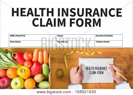 Claims Health Insurance Form ,  Claims Document Of The Customer To The Insurance , Claims - Business