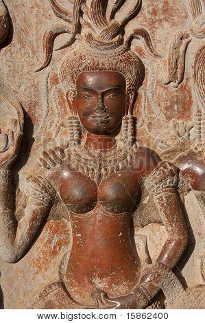 Stone Apsara - Angkor - Cambodia