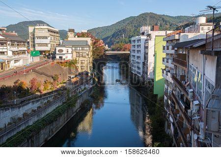 KITAKATA, JAPAN - OCTOBER 25, 2016 : Kitakata is a city located in Fukushima Prefecture, in northern Honshu, Japan.